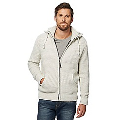 Mantaray - Natural knitted hooded jacket