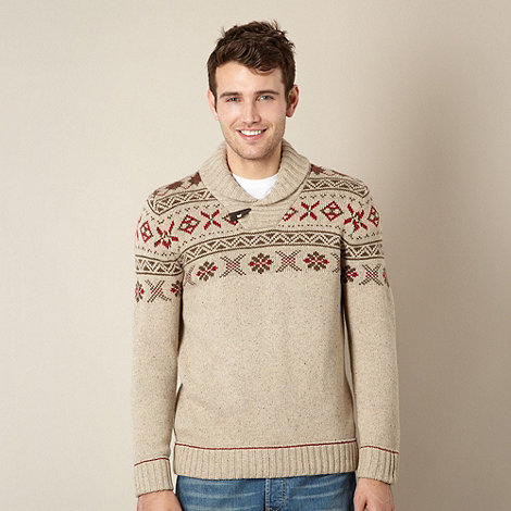 Mantaray - Natural fairisle wool blend jumper