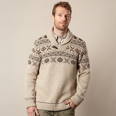 Mantaray - Beige fairisle knit jumper