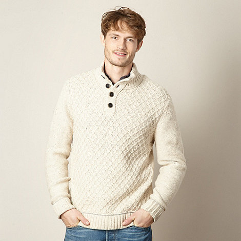 Mantaray - Natural cable knit jumper