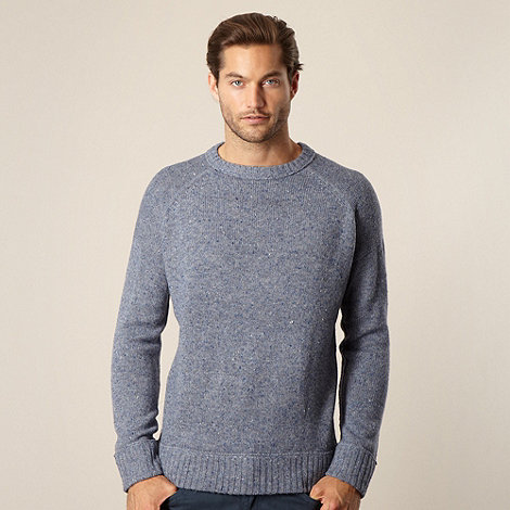 Mantaray - Big and tall light blue flecked jumper