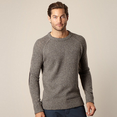 Mantaray - Big and tall grey flecked jumper