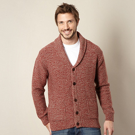 Mantaray - Dark red shawl neck cardigan