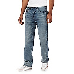 Mantaray - Blue light wash loose fit jeans
