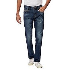Mantaray - Big and tall blue mid wash straight leg jeans