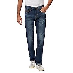 Mantaray - Big and tall blue mid wash straight leg jeans