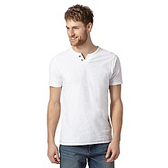 Mantaray - White notch neck t-shirt