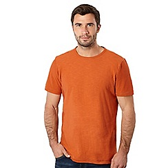 Mantaray - Big and tall orange basic t-shirt