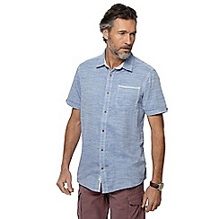 Mantaray - Big and tall light blue chambray shirt