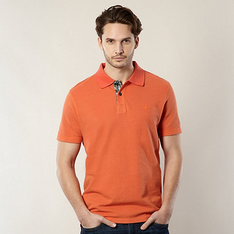Mantaray - Orange pique polo shirt
