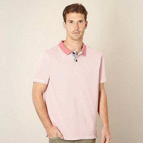 Mantaray - Big and tall pink pique polo shirt