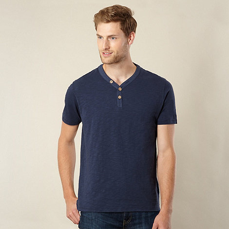 Mantaray - Big and tall navy pique polo shirt