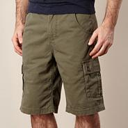 Big and tall dark green cargoshorts