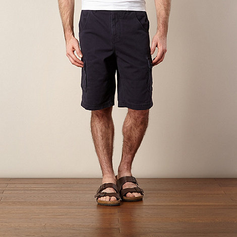 Mantaray - Navy cargo button shorts