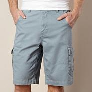 Big and tall light blue cargo shorts