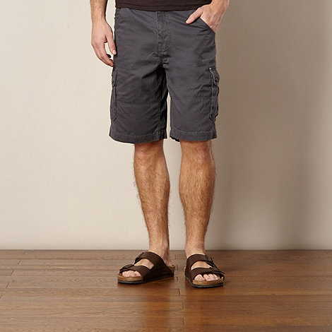 Mantaray - Dark grey cargo shorts