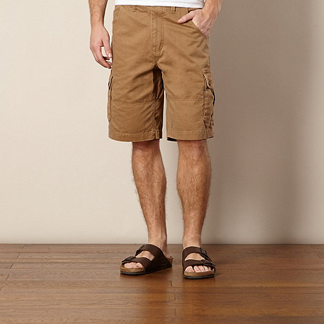 Mantaray - Big and tall tan cargo shorts