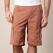 Big and tall terracotta cargo shorts