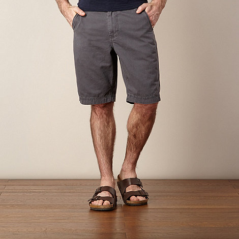 Mantaray - Big and tall dark grey chino shorts