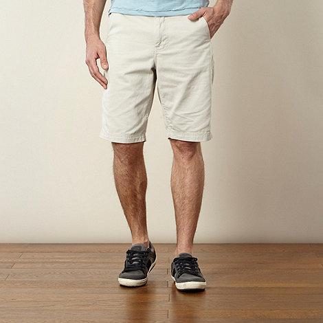 Mantaray - Natural plain twill chino shorts
