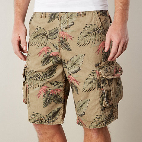 Mantaray - Natural hawaiian floral shorts