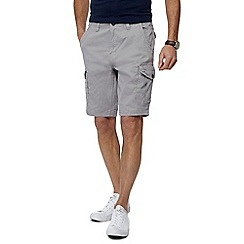 Maine New England - Big and tall light grey cargo shorts