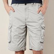 Light grey cargo shorts