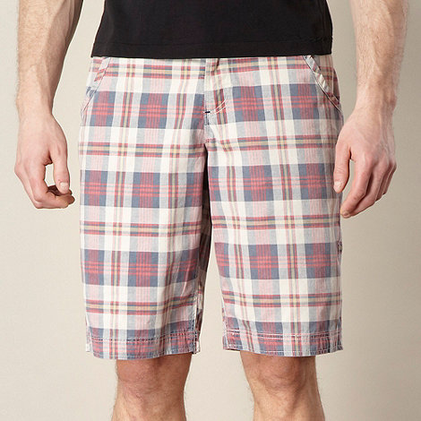 Mantaray - Big and tall pink checked shorts