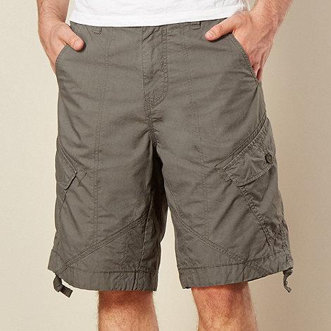Mantaray - Big and tall khaki poplin cargo shorts