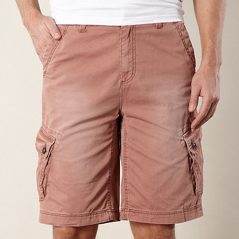 Mantaray - Big and tall rose twill cargo shorts