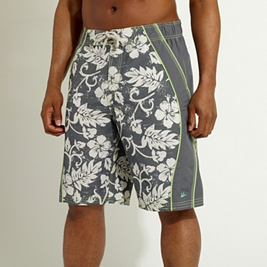 Dark grey cut and sew board shorts