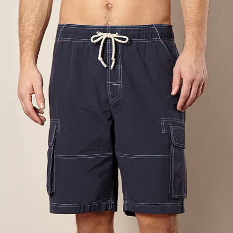 Mantaray - Navy stitched cargo swim shorts