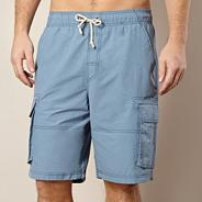 Light blue stitched cargo swim shorts