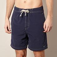 Navy poplin swim shorts
