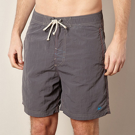 Mantaray - Dark grey poplin swim shorts