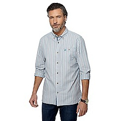 Mantaray - Big and tall blue stripe shirt