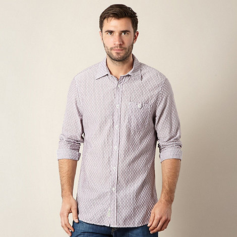 Mantaray - Big and tall pale purple graduating stitch striped shirt