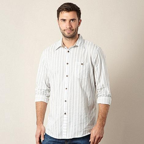 Mantaray - Blue striped print shirt