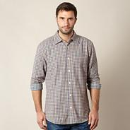 Big and tall blue textured check shirt
