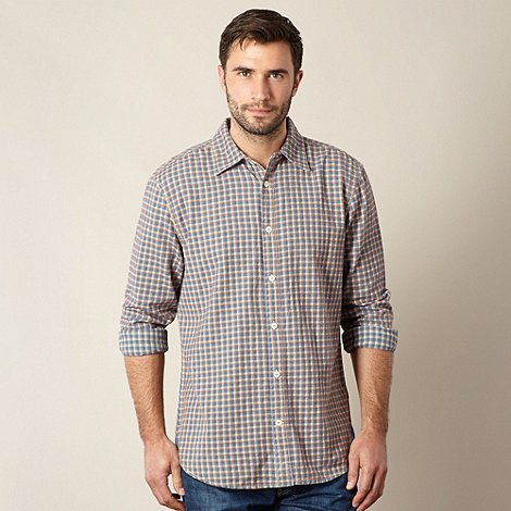 Mantaray - Blue textured check shirt