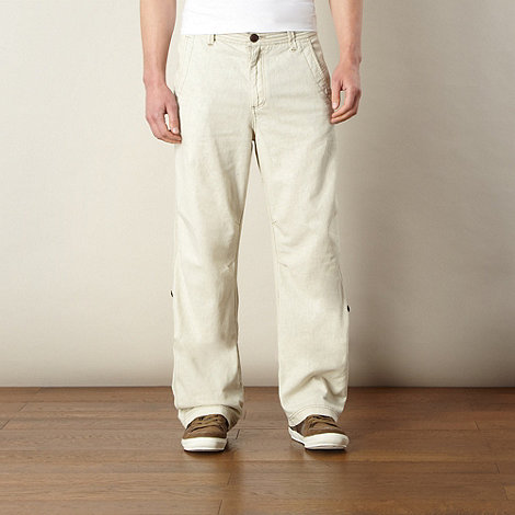 Mantaray - Natural linen blend roll cuff trousers