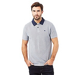 Mantaray - Big and tall blue pique polo shirt