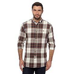 Mantaray - Brown herringbone checked shirt