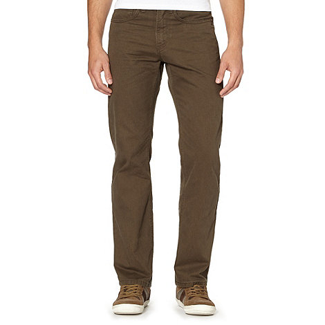 Mantaray - Khaki mini herringbone trousers