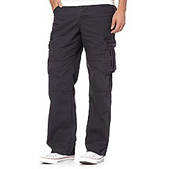 Mantaray - Dark grey canvas cargo trousers