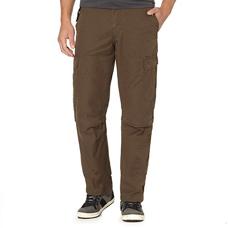 Mantaray - Big and tall khaki zip off leg cargo trousers