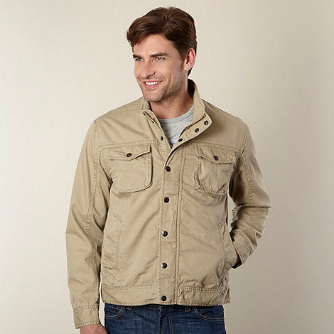 Mantaray - Taupe funnel neck harrington jacket