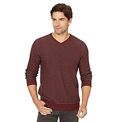 Mantaray - Wine V neck jumper