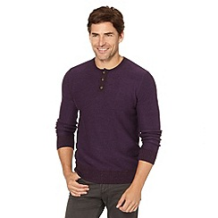 Mantaray - Purple button neck jumper