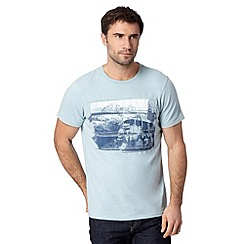 Mantaray - Light blue van applique t-shirt